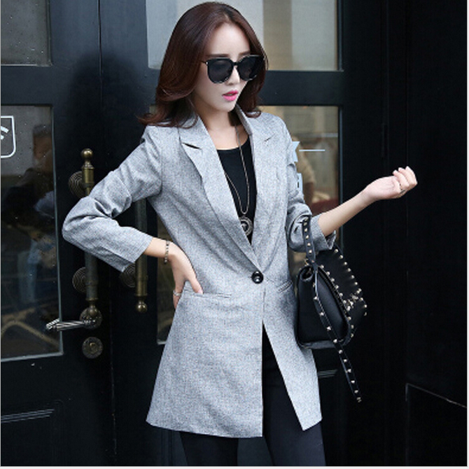 WA6062 hefei mosen best selling lady women stylish gray blazer suits