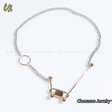 New Fashion Sexy Neck Collar Jewelry silver plated brass chain choker necklace for women