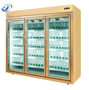 3 glass door Fan Cooling Supermarket Chiller/Freezer /Cabinet/refrigerated glass door (LSF-1860ZS)