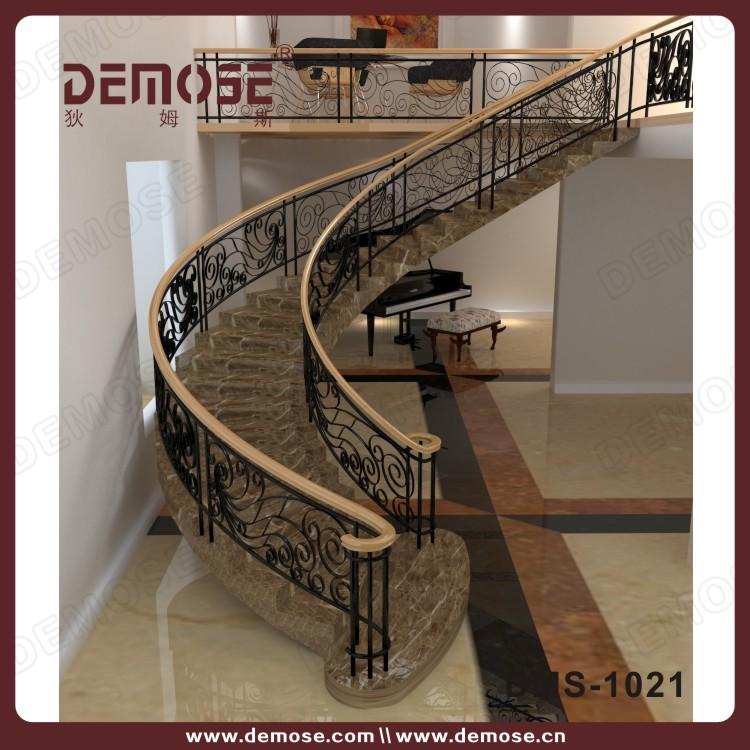 Prefabricados escaleras de m rmol con barandilla de la - Barandillas de hierro para escaleras ...
