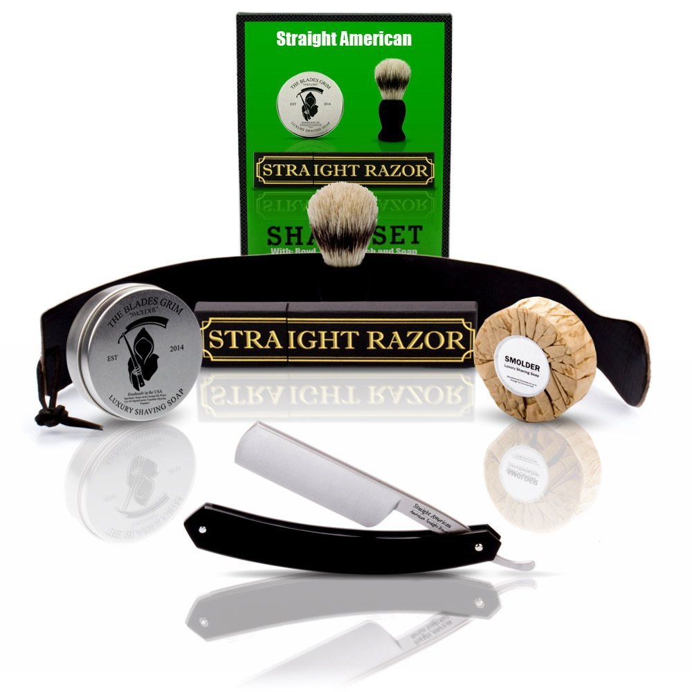 Cheap straight razor grip find straight razor grip deals on line get quotations straight american straight razor with full shaving set shave ready baditri Image collections