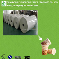 Pe coated white cardboard paper for making cups