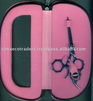 Titanium Blue hairdressing scissors Swivel Thumb Hair Shears