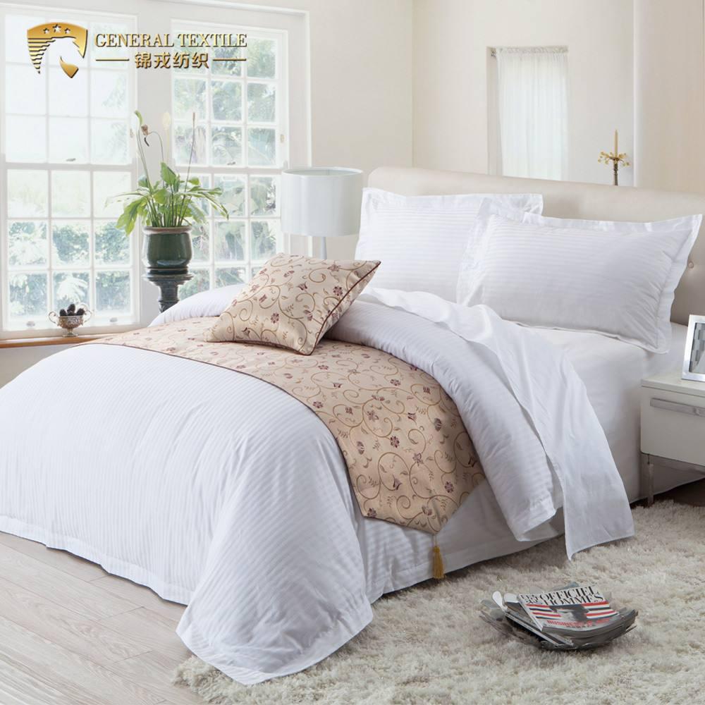 100% Cotton hotel strip sheet Egyptian cotton bed linen