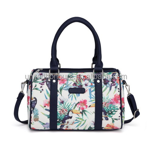 fe179e18da Popular designer PU leather digital printing florals lady bucket tote bags  women handbags made in china