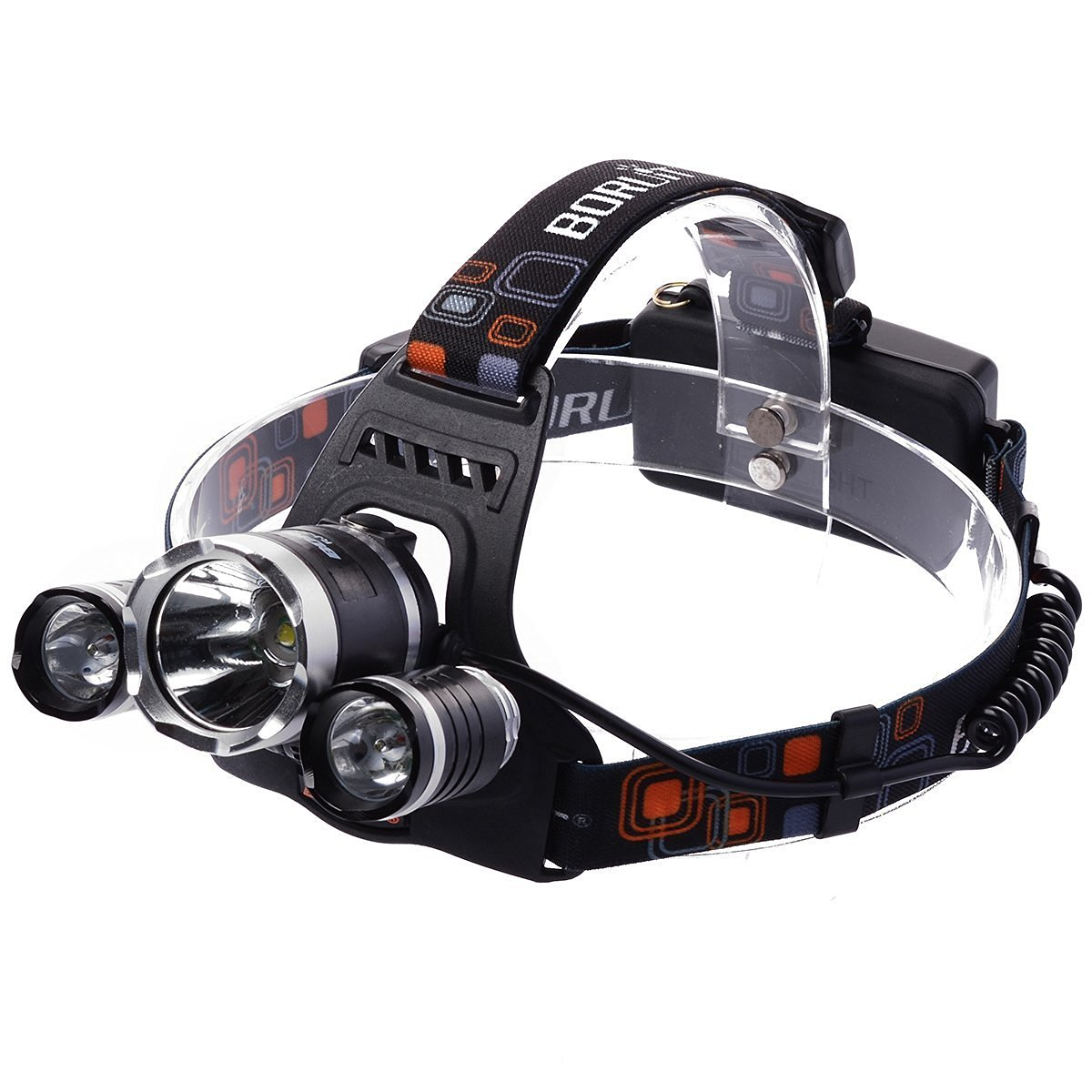 BESTSUN Bike Light HeadLamp 5000 Lumen LM LED Bicycle HeadLight 4 Modes CREE XM-L XML 3 x T6 LED Headlight Light Headlamp Head Lamp Flashlight with USB Charging Cable Powered by Power Bank External Power Tablet Computer For Hiking Camping Hunting Night Riding Caving (Battery not included)
