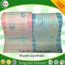 Cloth-like Lamination Film for Manufacturing Baby Diapers