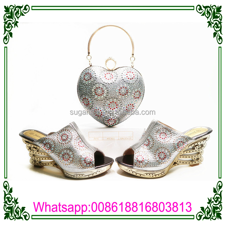 shaped Bag Shoe High cm Matching 9 And Shoe stones with Dress Lovely baby heart Shoe Heel pink 05Ww4qS