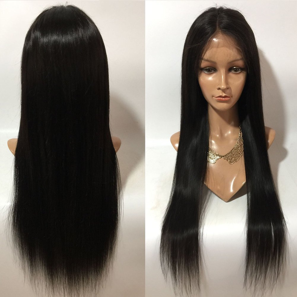 f575a5cd52 Get Quotations · Fantasy Beauty Hair 130% Density Lace Front Human Hair  Wigs Peruvian Virgin Hair Front Lace