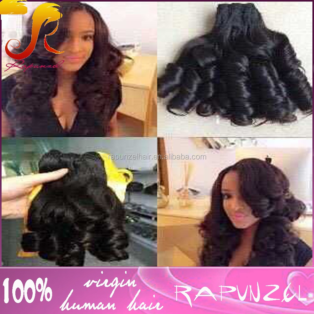 Nice French curl cheap original brazilian human hair paypal accept