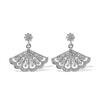 Luxury Jewelry 925 Silver Women Zircon Peacock Designer Earring