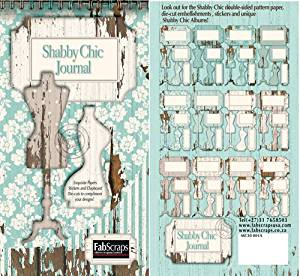 Fabscraps Shabby Chic Journal Die-Cut Book Tags and Shapes 12 Design Pages/5 Each, 8 by 4-Inch