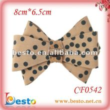 SF0542 Fashion bow hand making shoe accessories 2012