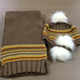 High quality children winter hat scarf mitten set