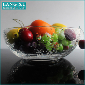 multifunctional Large flat fruit glass bowl