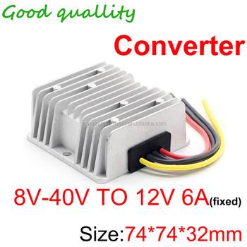 Dc Voltage Stabilizer 8-40v To 12v 6a 72w Power Converter Regulator  Waterproof Dustproof Shockproof 75 X 75 X 30 Mm Modules - Buy Waterproof  Dustproof