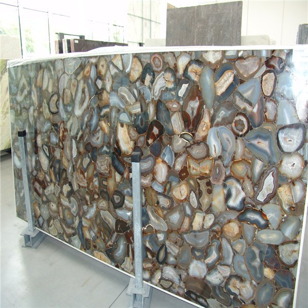 2015 Polished gemstone agate porcelain tile looks like marble for decoration