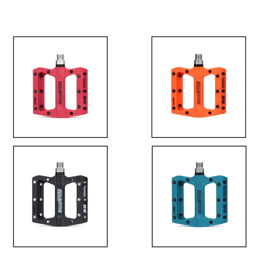 Custom Cheap Bike Parts Nylon Ultralight Road Bicycle Pedal