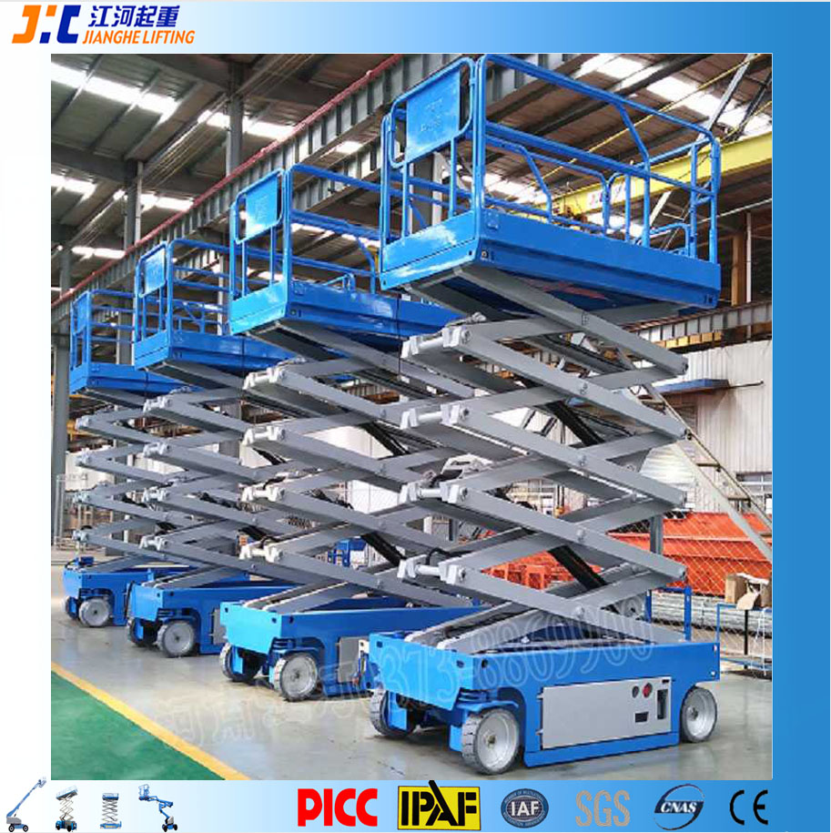 12m Hydraulic Mobile Self Proplled Electric Man Lifting Scissor Lift Platform for Israel and England