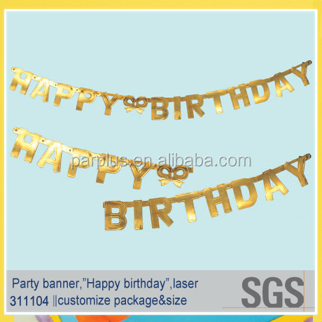gold happy birthday letter banner buy happy birthday letter bannerhappy birthday letter bannergold happy birthday letter banner product on alibabacom