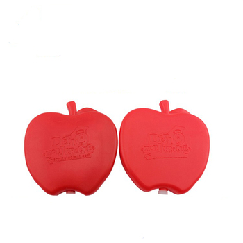Custom apple shape ice freezer pack for lunch boxes/gel ice pack