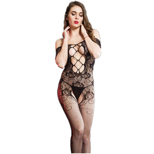 Girls Pretty Hot Sexy Hollow Transparent Fishnet Bodystocking Crotchless Sexy Lingerie