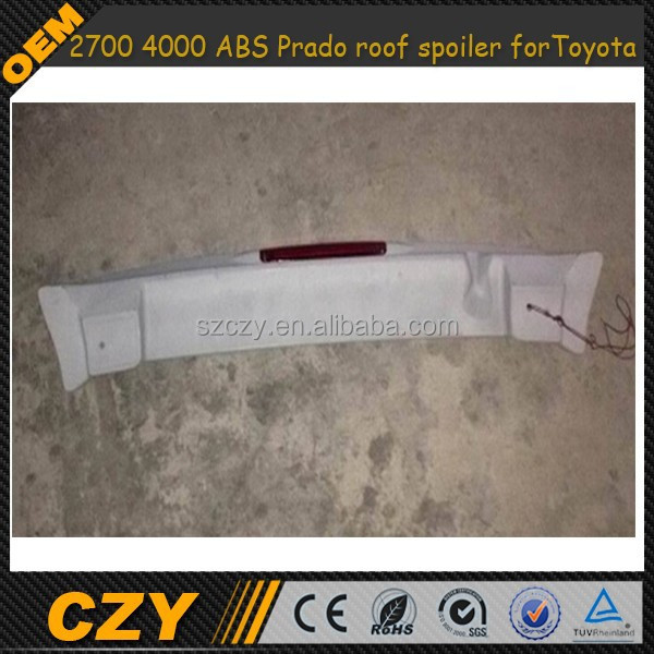 2700 4000 ABS Prado roof spoiler for Toyota