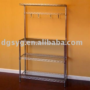 Kitchen Room Cookware Wire Shelving Wine Trolley Carts