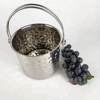 Wholesale bar tools stainless steel hammered ice bucket champagne ice bucket