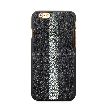 China 100% Authentic Stingray Leather Cell Phone Case for iphone 6
