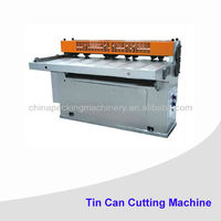 Chemical/paint/olive oil can tin cutting machine