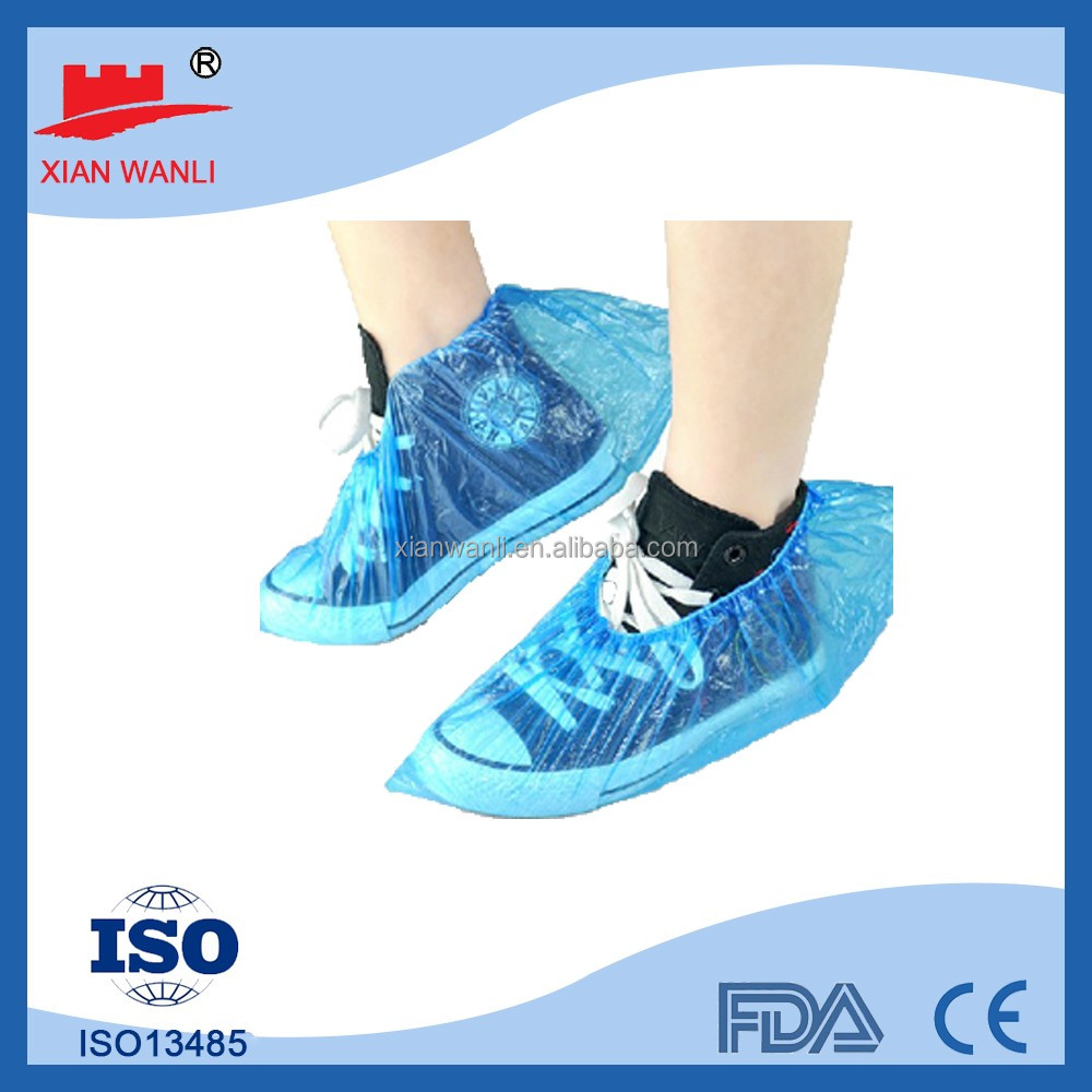 waterproof rain boot shoe cover single elastic PP 30g Disposble Anti Slip shoe Cover with CE FDA certification for factory