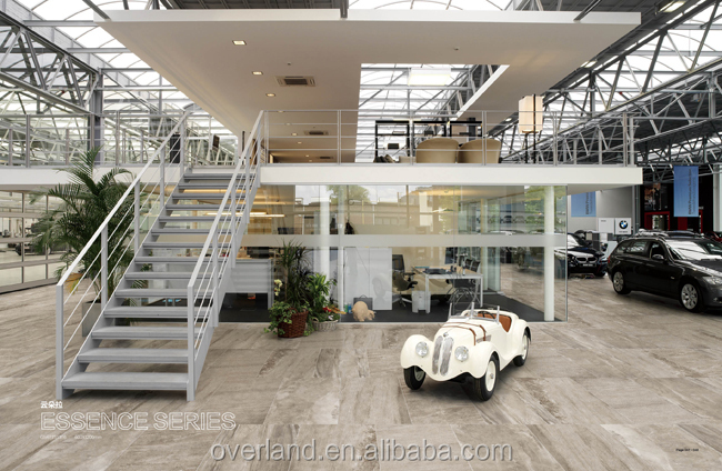 Car showroom floor tiles