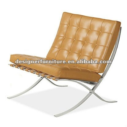 De cuero genuino de la silla barcelona& otomano-Sillas para la Sala ...