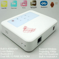 Wireless Portable mobile phone mini dlp android projector with 5 wifi home theater digital multimedia beamer proyector
