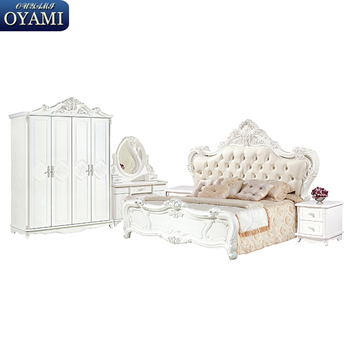 European Modern Style White Furniture Company Bedroom Sets