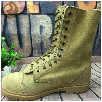 High Cut Fashion Desert Leather Army Combat Boots With Zipper For ...