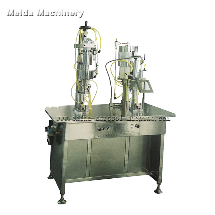 semiautomatic bov aerosol filling machine for shaving foam