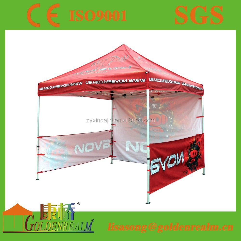aluminium folding printing tent with side walls and window