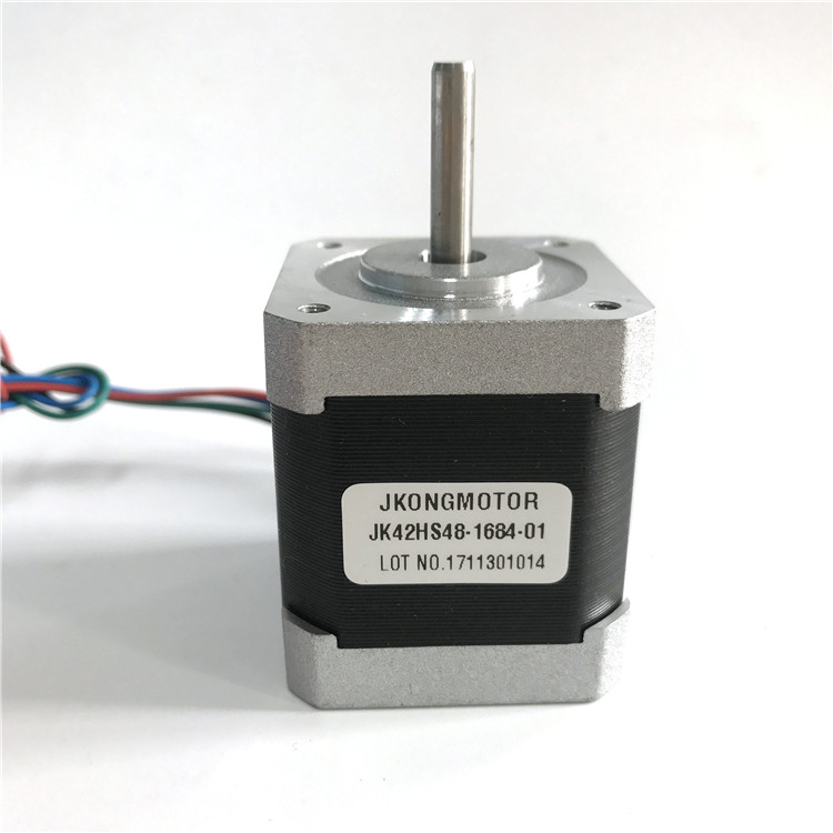NEMA17 42mm*48mm 5kg.cm 2phase 1.8degree hybrid stepper motor with round shaft diameter 5mm