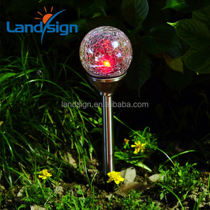XLTD-721A zhejiang manufacturer factory sales outdoor led light ball changing led solar lamp