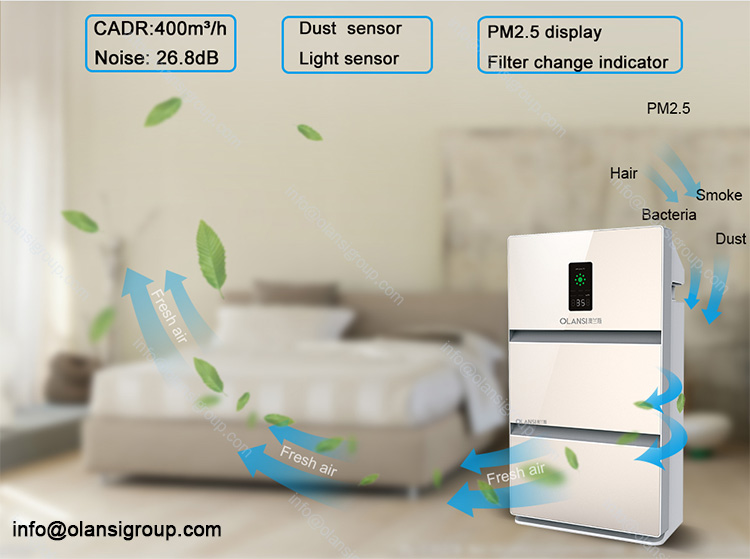 CE CB ROHs Approval Negative Ion Air Purifiers whole House Room Air Purifier Hepa