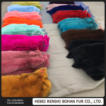 Real Fox Fur Plate Gilet Fabric