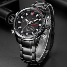 NAVIFORCE военные спортивные часы Для мужчин Элитный бренд цифровой кварцевые часы Для мужчин's Водонепроницаемый Наручные часы Relogio Masculino(Китай)