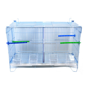 White color metal canary double breeding bird cages