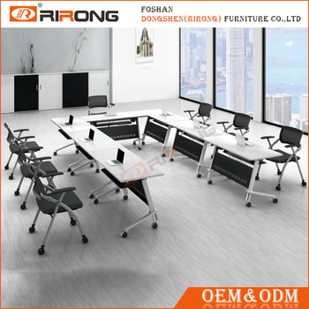 Latest Office Furniture Table Designs Long Benching Desks Staff Partition  Office Workstation For 8 Person