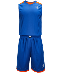 6d8a0be05 Blue color men s basketball uniforms with 100% polyester mesh fabric  breathable