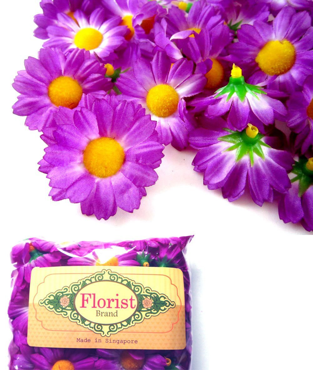 Cheap daisies gerber daisy flowers find daisies gerber daisy get quotations 100 silk violet gerbera daisy flower heads gerber daisies 175 izmirmasajfo