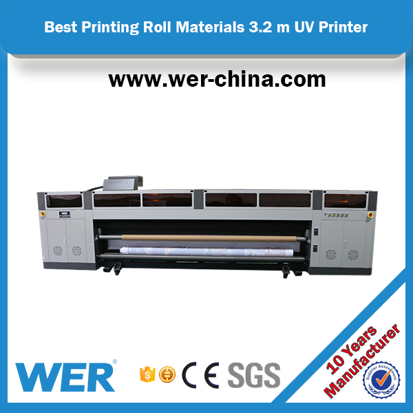 2017 new design 3.2m inkjet roll to roll uv printer