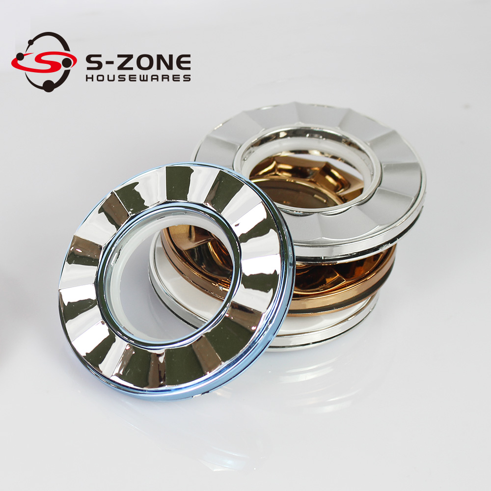 SZONE ABS self-locking curtain rod eyelets, curtain rod accessories wholesale, curtain pole ring on sale